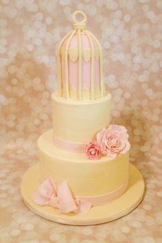 Custom Yellow Birdcage Cake By A Little Slice Of Heaven Bakery In Atlanta GA