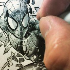 Mike Deodato, Jr. - Spidey ! Im Mad At You, Mike Deodato, Venom, My Hero, Comic Art, Marvel Comics, Jr, Spiderman, Geek Stuff