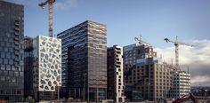 Barcode project - Opera Kvarteret designed by MAD arkitekter (Oslo), Dark Arkitekter (Oslo), A-Lab (Oslo), MVRDV (Rotterdam); Bjørvika / Oslo / Norway