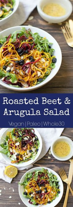 Simple salad full of texture and flavors! Vegan, Paleo, and Whole30 approved.