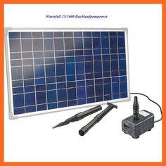 25 W Solar Bachlaufpumpe Solargartenteichpumpe Bachlaufpumpenset 25/1600 101018