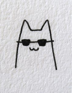 20 Easy Cat Drawing Ideas Small Easy Drawings, Mini Drawings, Cute Little Drawings, Animal Drawings, Cool Drawings, Simple Cat Drawing, Cute Cat Drawing, Drawing Ideas, Cat Doodle