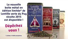 Edition limitée boite métal Lentille Verte du Puy récolte 2015