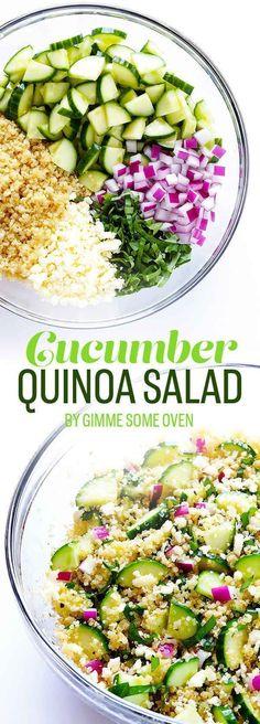 #Cucumber #Quinoa #Salad