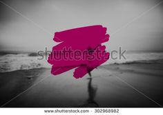 Summer Vacation Holidays Paint Stroke Concept - stock photo
