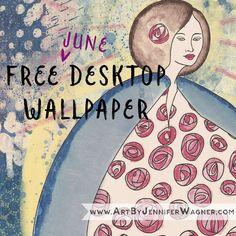 Free June Wallpaper inspired by Charles Rennie Mackintosh and Margaret Macdonald Mackintosh