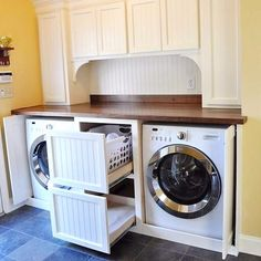 Clever organization hack for a small laundry room