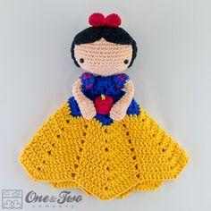 Snow White Lovey Security Blanket Crochet Pattern