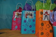The Fresh beat band party for my daughters 2nd birthday- favor bags include a kazoo and microphone bubbles