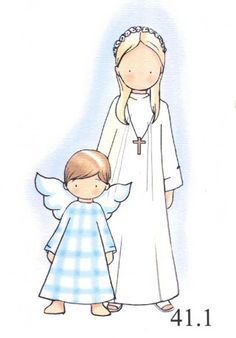 dibujos primera comunion - Buscar con Google Cute Images, Cute Pictures, Shabby Chic Christmas, Prayer Cards, Hand Embroidery Patterns, Name Cards, First Communion, Doll Patterns, Line Drawing