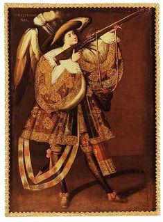 Ángel arcabucero, Círculo del maestro de Calamarca.