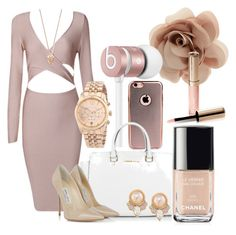 """""""Untitled #88"""" by shelbayye ❤ liked on Polyvore featuring Accessorize, Beats by Dr. Dre, Michael Kors, Jimmy Choo, Chanel, Carolee, Pamela Love and By Terry"""