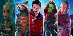 Guardiões da Galáxia Vol. 2: Senhor das Estrelas, Gamora, Drax, Rocket e Bebê Groot em nova arte promocional