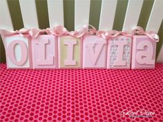 Baby name blocks -- cute idea for a baby's room