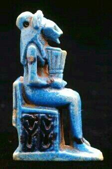 Amulet portraying the lion-headed goddess Sekhmet; her throne is decorated with stellar-decan symbols and she holds a shrine-shaped sistrum.