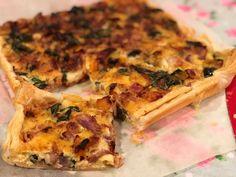 Cheese & Bacon Pumpkin & Spinach Tart