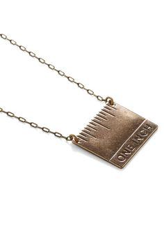 every hairdresser needs this. Haha then clients would actually know what an inch is | one inch necklace | hairstylist humor | hair humor | accessorize