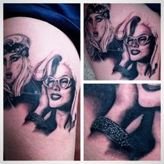 Marilyn Monroe portrait done by mike bonds at black rose collective