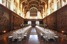 Hampton Court House dining room where we had a medieval feast