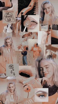 20 Billie Eilish Quotes & Relatable Song Lyrics That'll Hit You Right In The Feels – Unique Wallpaper Quotes Blue Aesthetic Pastel, Peach Aesthetic, Aesthetic Pastel Wallpaper, Aesthetic Wallpapers, Peach Wallpaper, Iphone Wallpaper Vsco, Tumblr Wallpaper, Billie Eilish, Photo Wall Collage