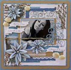 Ocean Of Dreams *Heartfelt Creations* - Scrapbook.com - love the colors & elements in this page
