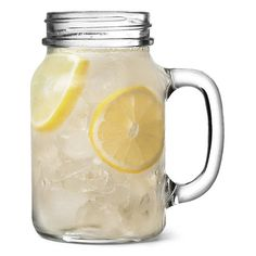 Mason Drinking Jar Glasses 20oz 568ml ($15) ❤ liked on Polyvore featuring food, fillers, drinks, food and drink and food & drink