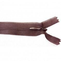 Fermeture invisible -  20-23 cm - marron -  non séparable