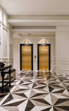 80 spectacular home floor design ideas 9 Lobby Interior, Luxury Homes Interior, Modern Interior Design, Modern Decor, Tile Design, 3d Design, Marble Design Floor, Marble Floor, Design Ideas