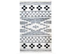 tapijt wol zwart wit