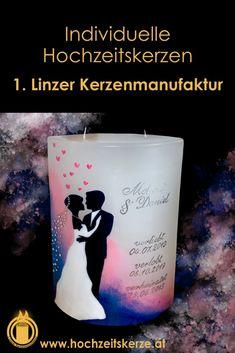 Ich fertige einzigartige Hochzeitskerzen nach individuellen Wünschen an. Ein Unikat für jedes Brautpaar. 100%ige Handarbeit aus Oberösterreich. Sie können nicht nur die Verzierung, sondern auch die Form der Kerze selbst bestimmen, da wir auch die Rohlinge nach Kundenwunsch selbst herstellen. Kerze mit Holz, Mantelkerze, Kerze mit Mineralien, Achat, Meteorit, Hochzeit selbstgemacht Standesamt Kirche Hochzeitsbrauch Geschenk Dekoration Kerze deko Trauung Trauspruch Kerzenshop Glass Of Milk, Form, Drinks, Embellishments, Decorations, Candle Decorations, Newlyweds, Homemade, Handarbeit