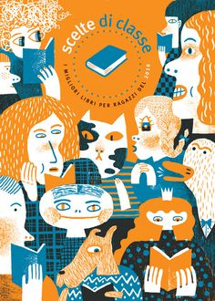 I did the cover for an annual publication put together by an organization in Italy called La Tribù dei lettori (tribe of readers). It encourages reading in children and focuses on notable children's books published during the year. La Tribù also hosts an annual book festival in Rome. Thanks to Patrizia and Fausta for having me on board!!