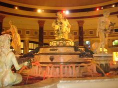 Fall of Atlantis at Caesars Forum Shops. A 10 minute attraction where statues move and talk, with added special affects