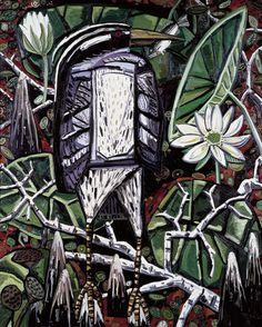 David Bates, Night Heron  Night Heron  1986-87  David Bates  American, born 1952    Oil on canvas  96 x 78 inches  Modern Art Museum of Fort Worth