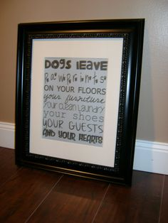 Dogs Leave Pawprints Subway Art by MadeByCRose on Etsy, $35.00