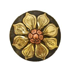 Teskey's Saddle Shop: Natural Flower Concho with Berry Dot - Conchos - Conchos & Hardware - Tack -Teskey's