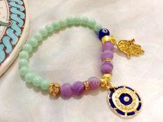 Turkish amulet bracelet , gypsy protection bracelet , evil eye bracelet , indie bracelet ,Hamsa bracelet , bohemian bracelet by Nezihe1 on Etsy