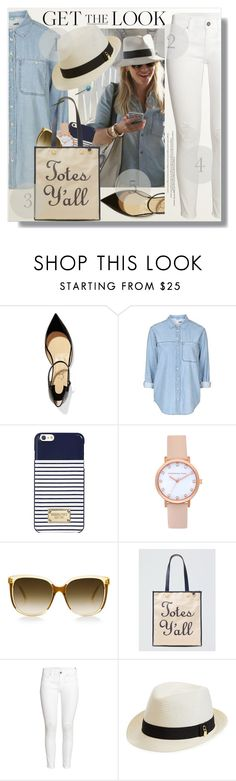 """Reese Witherspoon Style"" by myfashionwardrobestyle ❤ liked on Polyvore featuring Christian Louboutin, Topshop, Michael Kors, Draper James, H&M and Melissa Odabash"