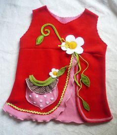 Kleider - HerzbeetErdbeere Kleid Tunika Wunschgröße - ein Designerstück von Nina-von-Herzbeet bei DaWanda