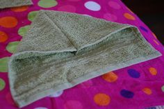 How to make a hooded towel - I tried it and it was super easy and cute!