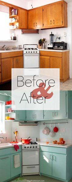 Don't let fears of cost or complexity ruin your appetite for revamping the most . - dezdemon-home-decorideas. Kitchen On A Budget, Kitchen Redo, New Kitchen, Vintage Kitchen, Kitchen Remodel, Kitchen Dining, 1950s Kitchen, Kitchen Cupboards, Kitchen Furniture