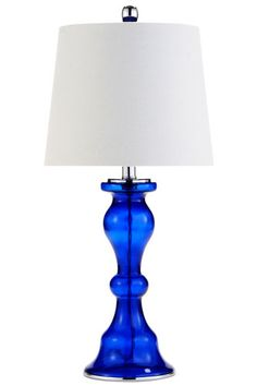 Pier 1 Imports Cobalt Glass Lamp, $50, available at Pier 1 Imports.