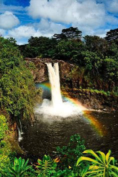 Rainbow Falls, Hilo, Hawaii... I would love to go here! :)  CeeCee Jensen