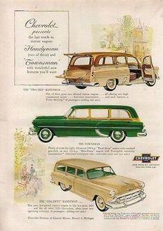 1953 Chevrolet Two-Ten One-Fifty Handyman Chevy Townsman Station Wagon Ad