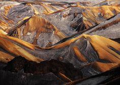 #Landmannalaugar mountains, #Iceland , just after the Grimsvotn #volcano eruption