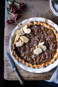 Salted Bourbon Pecan Pumpkin Pie. via @hbharvest