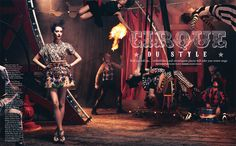 Circus twist1 Iris Egbers Is Center Stage for Grazia UK April 2013 by Takahiro Ogawa