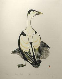 Metik by Kananginak Pootoogook 1977 stonecut & stencil Drawing Animals, Animal Drawings, Inuit People, Tlingit, Inuit Art, Illustration Art, Illustrations, Contemporary Artwork, Aboriginal Art