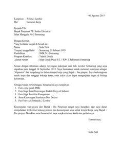 Contoh Surat Lamaran Penjaga Toko