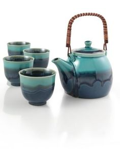 Azure Blue Teapot Set  Ashley's Chanukah present