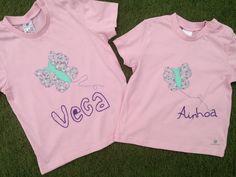 Camisetas con aplicaciones de tela mariposas
